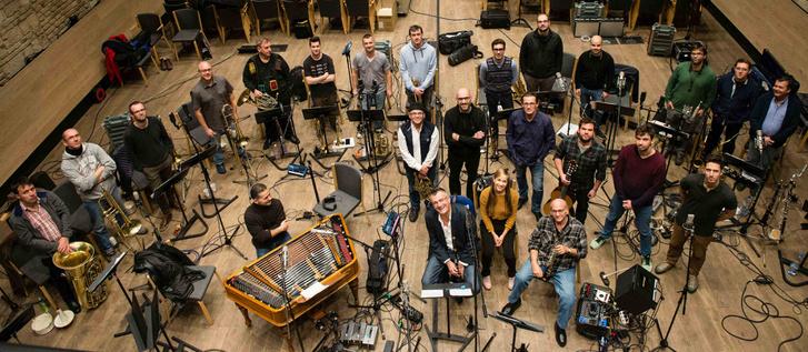 A Modern Art Orchestra és a MAO plays Bartók Béla című lemez közreműködői a BMC-ben