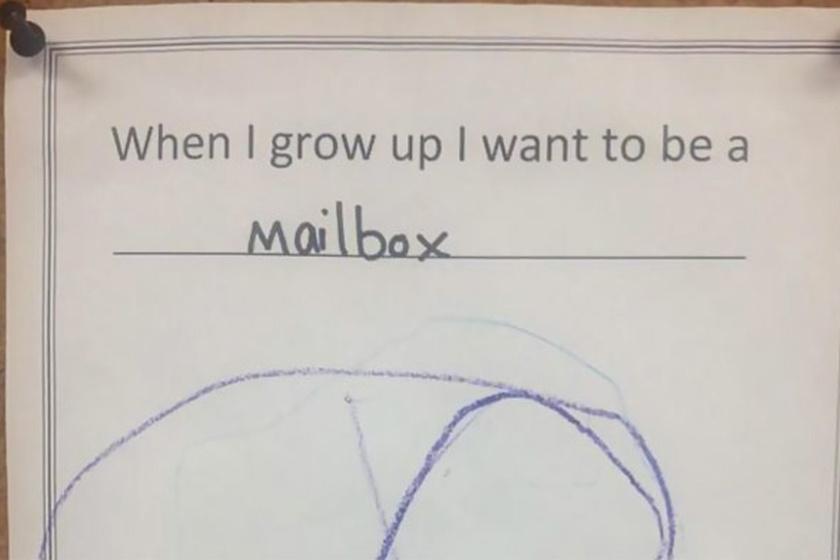 Ha nagy leszek, postaláda leszek.