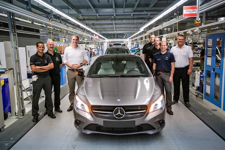 2012 márciusa óta Mercedeseket is gyártanak Magyarországon