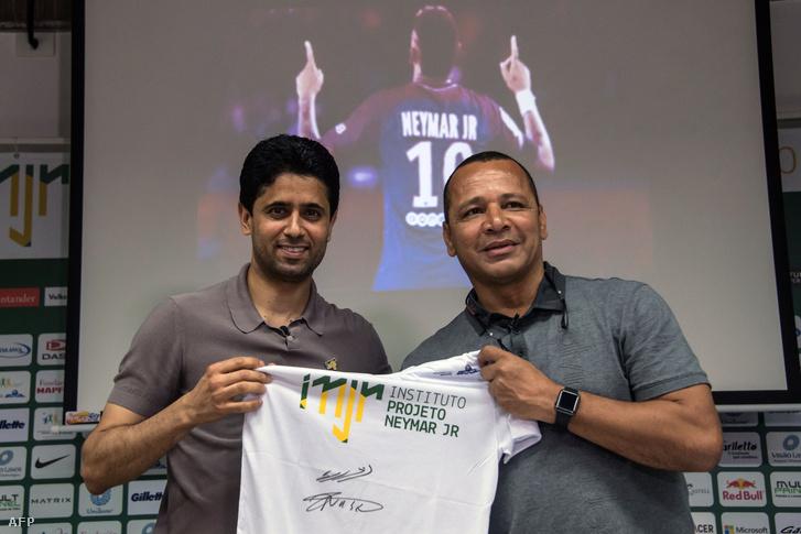 Al-Khelaifi és Neymar Sr.