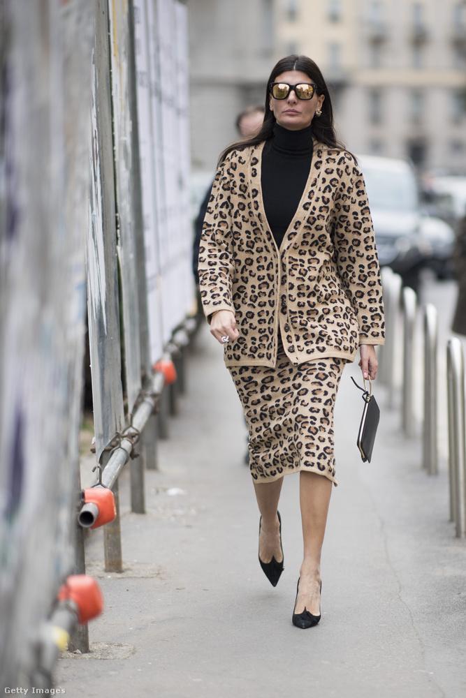 Az állatmintásra esküszik egy másik Vogue szerkesztő, Giovanna Battaglia is.