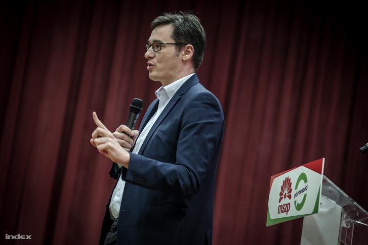 Karácsony Gergely, az MSZP-Párbeszéd miniszterelnök-jelöltje