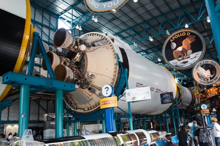 Még mindig a Saturn V. Ez itt a második rakéta fokozat