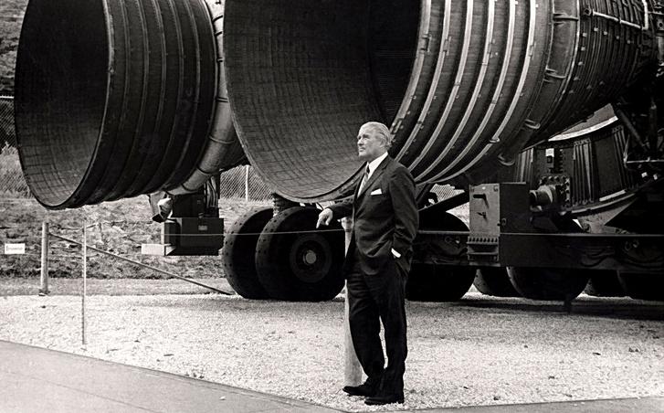 Wernher von Braun az F-1-esek alatt
