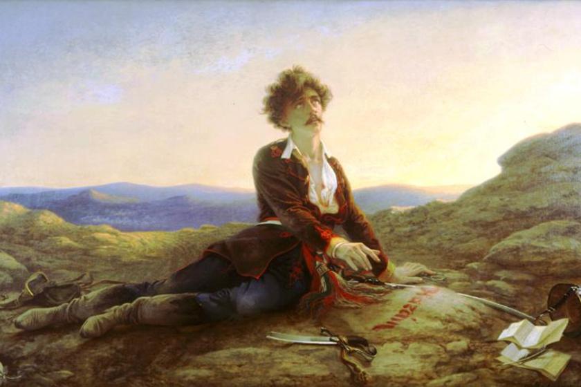 Madarász Viktor Petőfi halála című festménye.