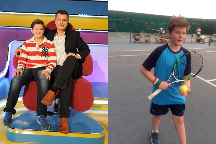 Az idén 14 éves Zsombor külsőre nagyon hasonlít édesapjára, Homonnay Zsoltra. A sport komoly helyet foglal el az életében: hetente többször teniszedzésre, hétvégenként pedig versenyekre jár.