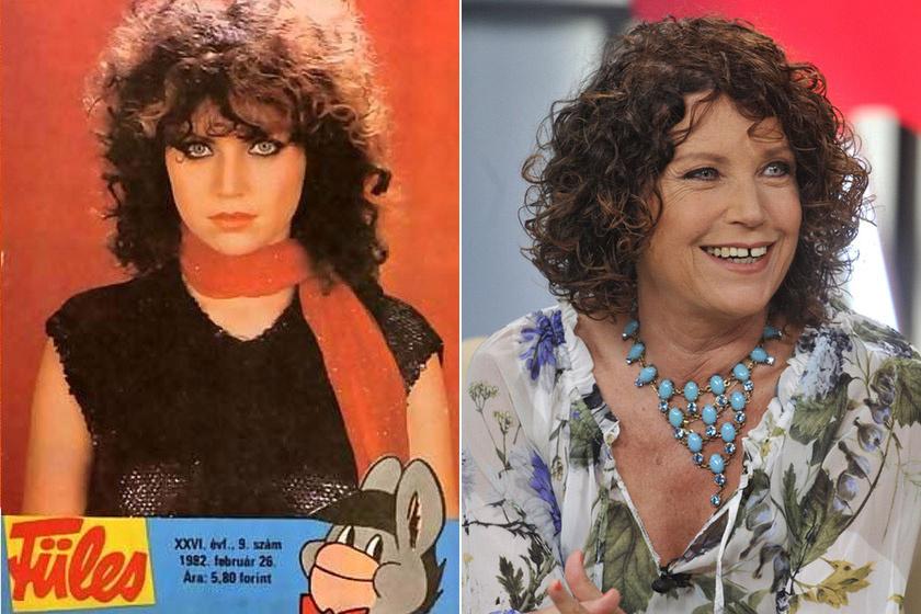 Liener Márta a Füles címlapján a '80-as években, illetve a Hogy Volt?! című műsorban 2014-ben.