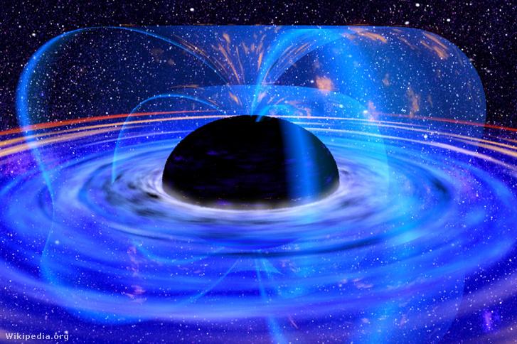 Művészi koncepció a fekete lyukról