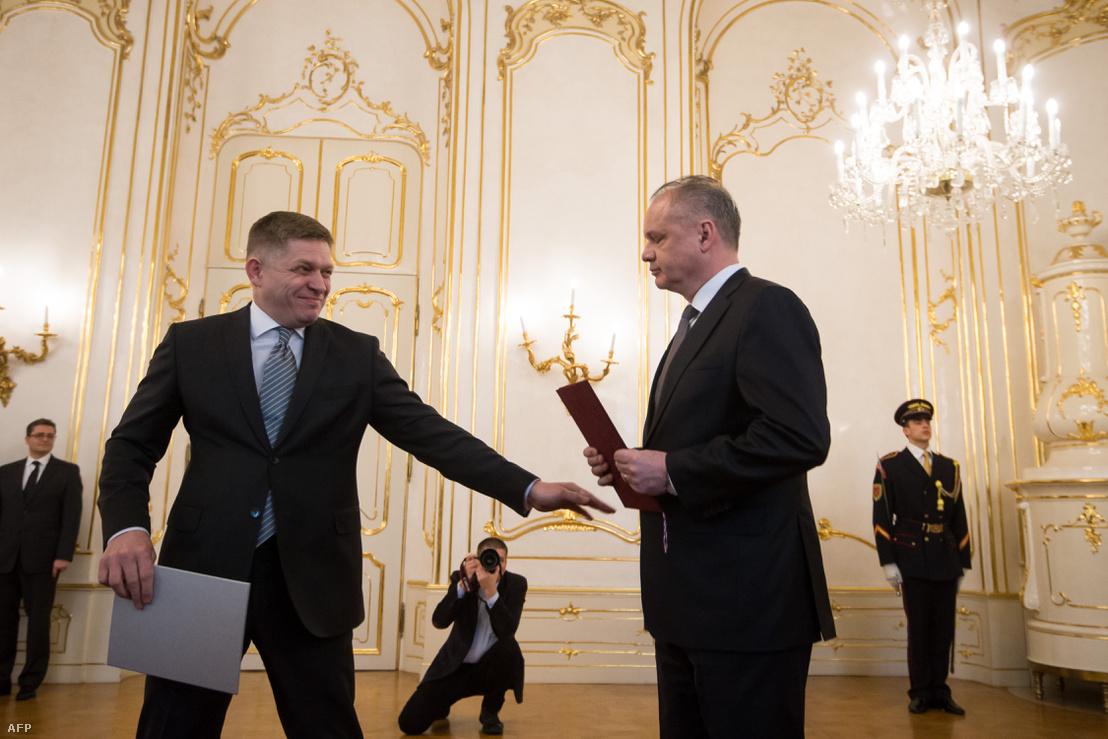 Andrej Kiska szlovák elnök átveszi Robert Fico lemondását