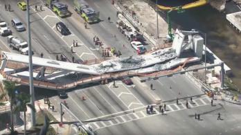 Összeomlott egy gyaloghíd Miamiban, hatan meghaltak