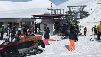 Többen megsérültek egy grúz síliftbalesetben