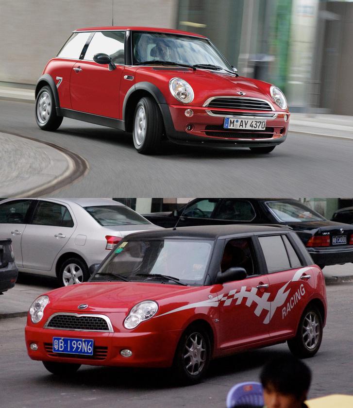 Mini Cooper/Lifan 320: A 2001-ben jött Mini stílusjegyeit másolta pár év késéssel a Lifan 320