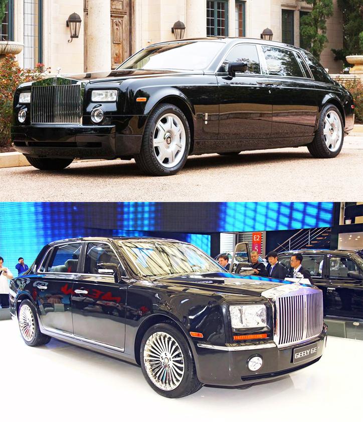 Rolls-Royce Phantom/ Geely GE:                          A mára Kína egyik legbefolyásosabb autógyártójává lett Geely múltja sem épp tiszta