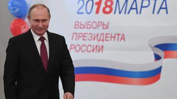 Rekordgyőzelmet jósolnak Putyinnak a közvélemény-kutatók