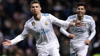 Cristiano Ronaldo félelmetes, 21 gólnál jár 2018-ban