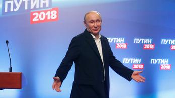 Putyin a voksok 76,65 százalékát zsebelte be