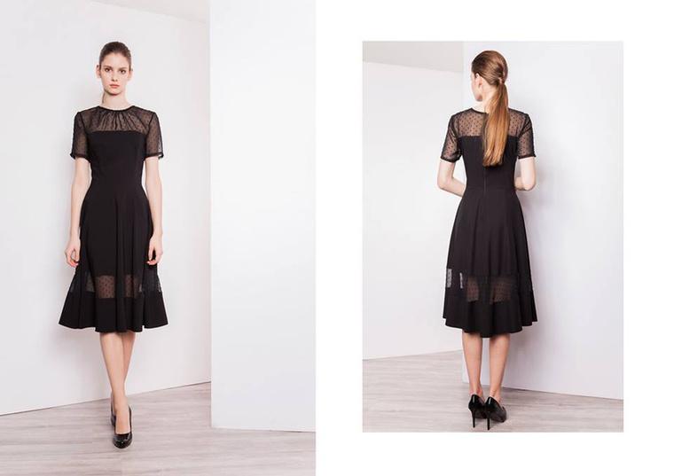 Kis fekete ruha a Bajcsai Viki által alapított Imogen új kollekciójában.