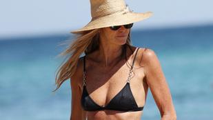 Reméljük, hogy egy szupermodell bikinis fotóitól megjön végre a jó idő!