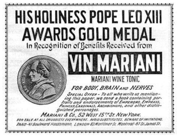 A pápa ajánlását hirdető reklám