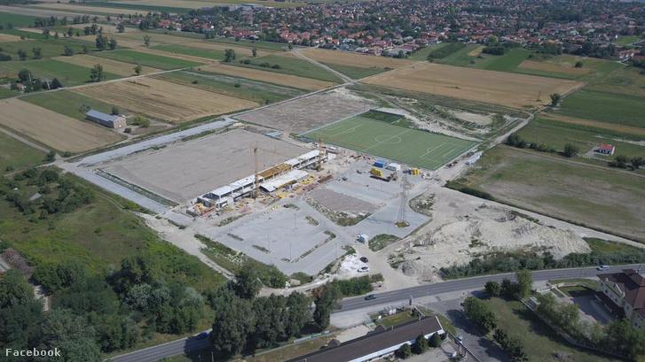 Az építkezés 2017 júliusában