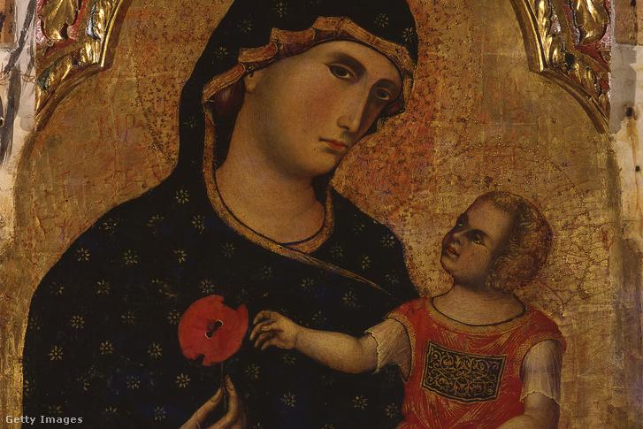 Paolo Veneziano (1333 k.): Madonna gyermekkel