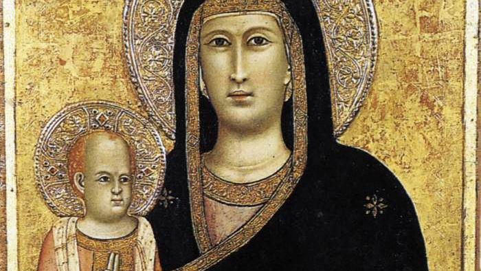 Giotto: A szűz a gyermekkel