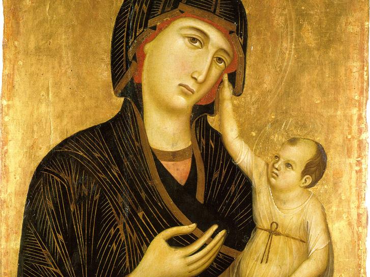Duccio di Buoninsegna (1284 k.): Madonna gyermekkel