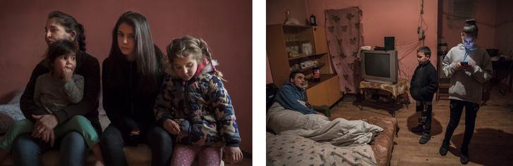 A lányok otthoni környezetben