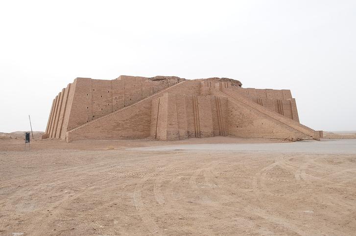 Egy sumér zikkurat romjai Násziríja városához közel