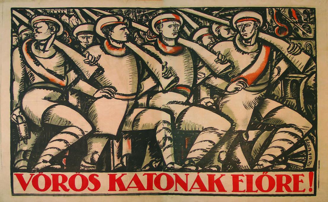 Uitz Béla Vörös katonák-plakát