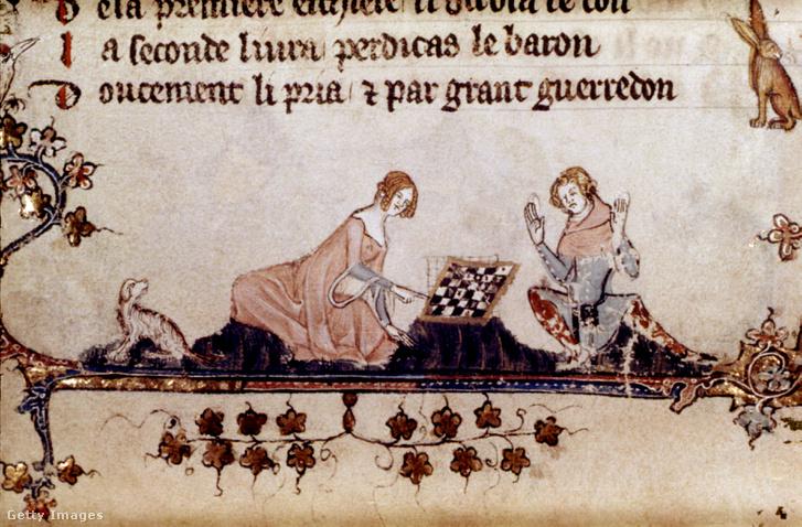 Sakkozók ábrázolása egy XIII. századi kódexben