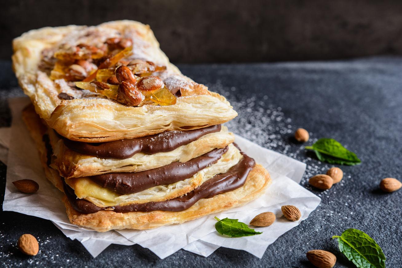 Csokis ezerlapos süti, hamis változatban: ez gyorsan elkészül