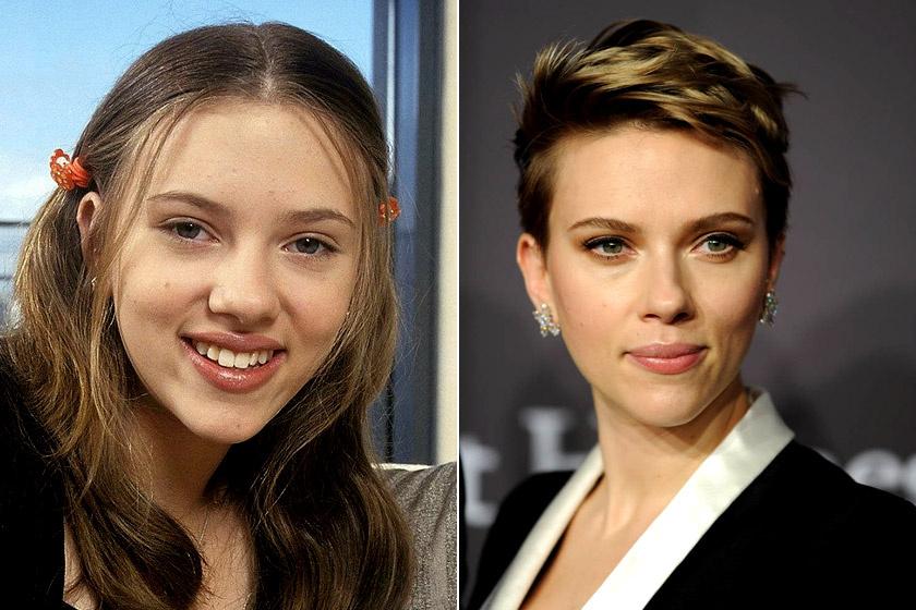 Scarlett Johansson 1997-ben és ma.