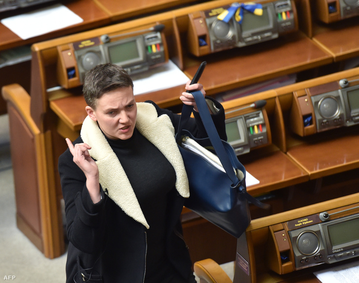 Nagyija Szavcsenkó a parlamentben az őrizetbevétel előtt