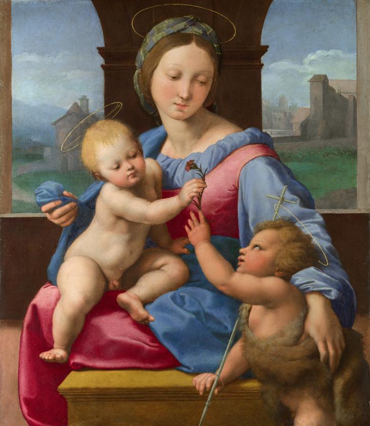 Raffaello: Madonna a Gyermekkel és a Keresztelővel (1510 k.)