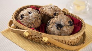 1 áfonyás muffin = 8 kanál cukor