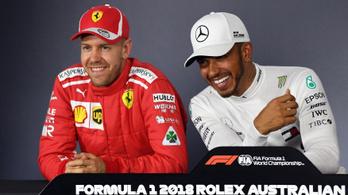 Hamilton Vettelnek: Vártam, hogy letöröljem a vigyort a képedről