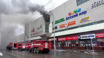 Már 64 halottja van egy orosz plázában kitört tűzvésznek
