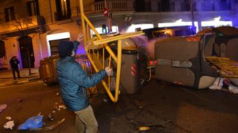 Utcai összecsapások törtek ki Barcelonában a volt katalán elnök letartóztatása miatt