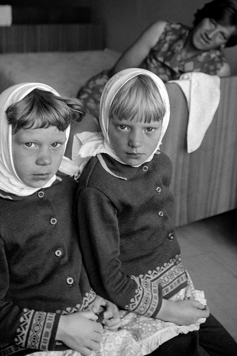 Két kislány 1979-ben, a Moszkvától 470 kilométerre lévő Vologda városában.