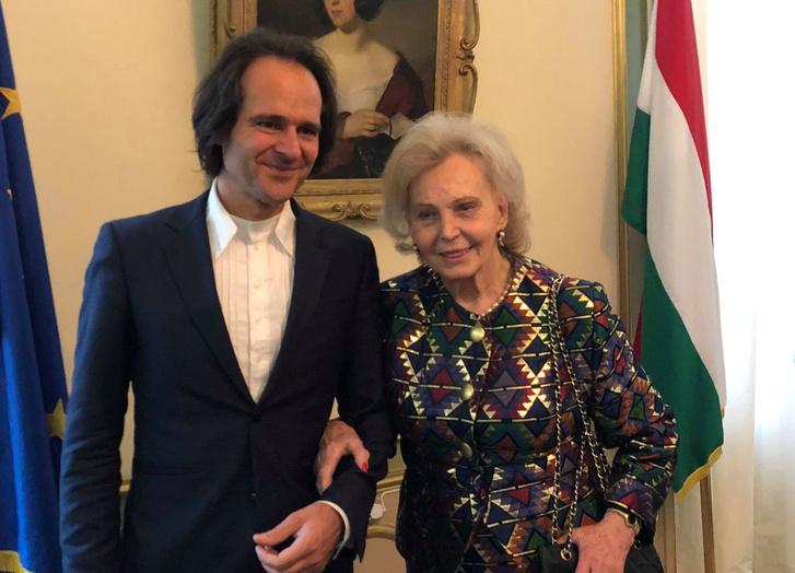 Bogányi Gergely Marianne Bernadotte hercegnővel, a svéd király család tagjával