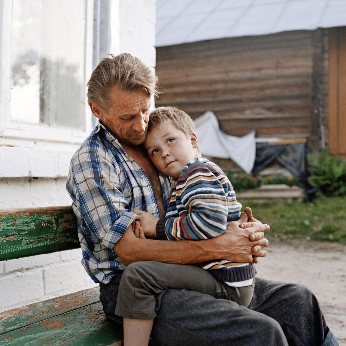 Karolcik és az apja, Stanislav.