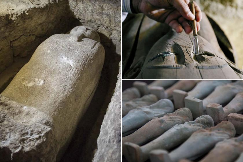 Nem egyszerű egyiptomi sírok: papok misztikus temetőjére bukkantak, ezernyi értékes lelettel
