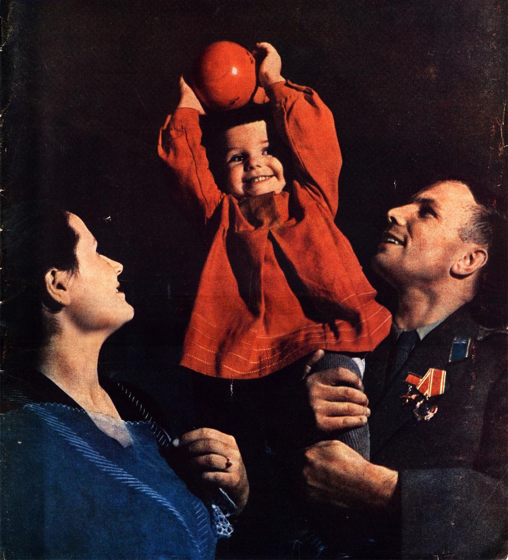 Jurij Gagarin és családja.
