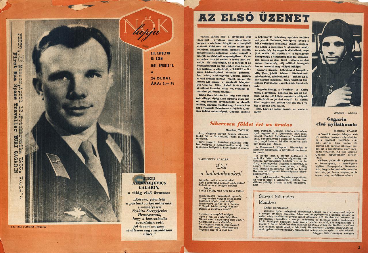 Jurij Alekszejevics Gagarin, a világ első űrutasa.
