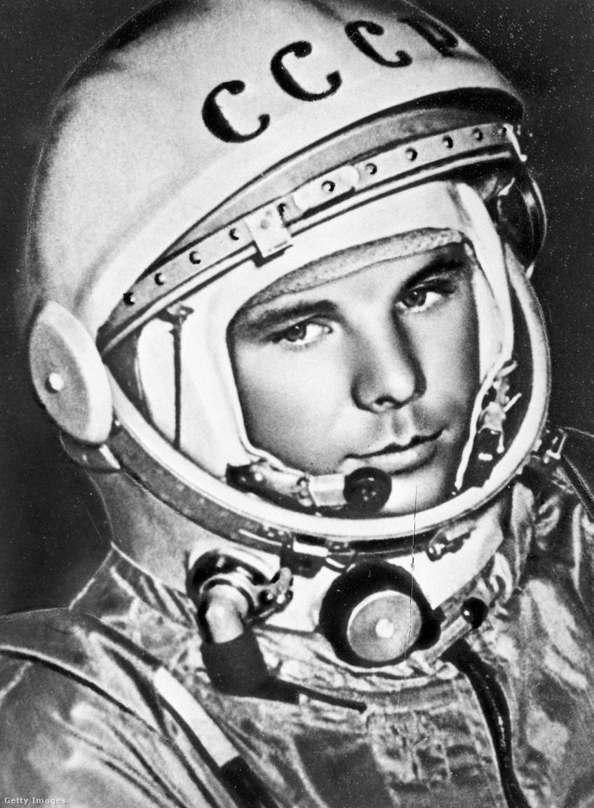 Ikonikus portré az első űrhajósról.