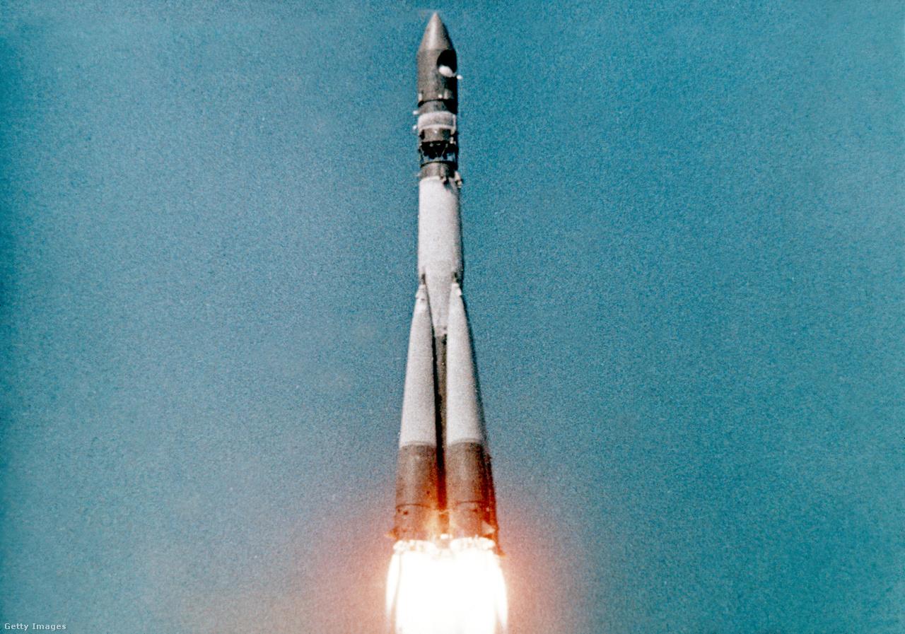 A Vosztok-1 startja.