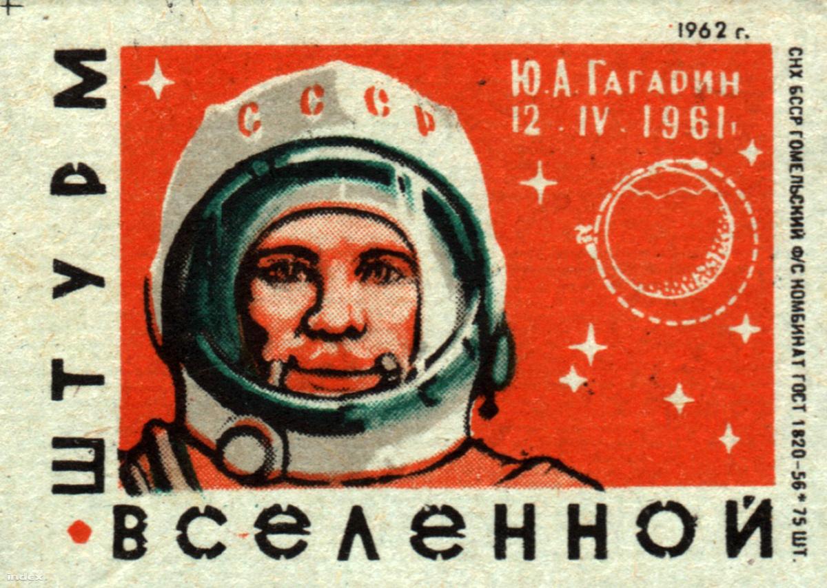 Szovjet gyufásdoboz címkéje, 1962.