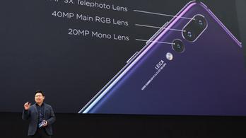 40 megapixelt tett a Huawei a P20 Pro mobilba