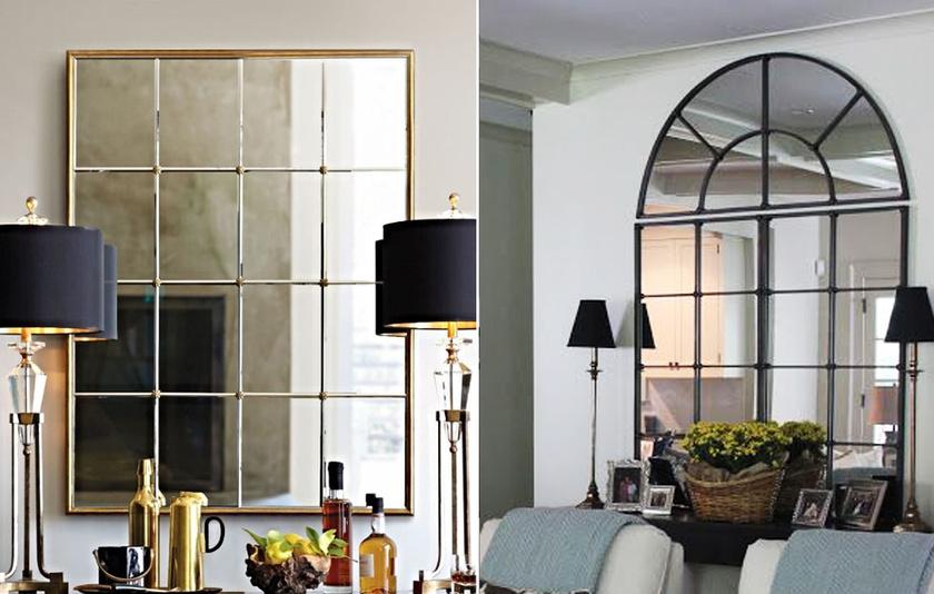 Az ablak közelébe helyezett tükör mellé okos ötlet elhelyezni egy-két lámpát is, hiszen így azok fényét is kétszeresen adja vissza a szobának.
